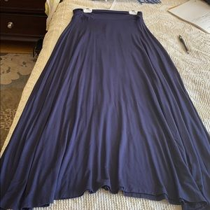 Mono B Navy blue long skirt new
